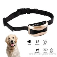 Wanfei Bark Collar Small Dog Dog Barking Control Training Collar Waterproof USB Rechargeable No Shock Collar with 7 Sensitivity Beep Vibration Safe Shock for Small Medium Large Dogs - B0761H3D7S