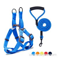 Adjustable Dog Harness Anti-Twist Dog Leash Set for Small Medium Large Dogs Soft and Durable Vest Harness Leash for Daily Training Walking Running and Easy Control - B077ZM5FG3