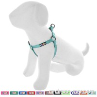 Pawtitas Pet Adjustable Solid Color Step In Puppy/Dog Harness 6 feet Matching Collar and Harness sold separately - B073TLYFX4