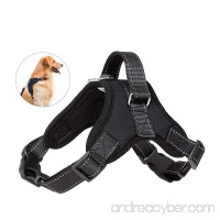 PupMate Dog Harness Outdoor Pet Vest for Small Medium Large and Extra Large Dog 3M Reflective Material of No Pull Vest Harness & Dog Harness with Handle for Choice (Black) - B07C5SX17H