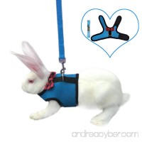 Rabbit Harness with Leash Adjustable Soft Elastic Mesh Comfortable Breathable Harness for Rabbits Cats Small Little Pets for Running Walking Jogging - B07DCX7LTJ