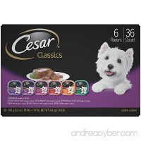 CESAR Classics Adult Wet Dog Food Variety Pack Trays 3.5 Ounces (Pack of 36) - B071J1BFTX