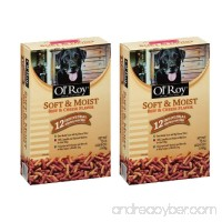 Ol' Roy Soft & Moist Beef & Cheese Flavor Dog Food 72 oz. Box (12 individual pouches) - 2 BOXES - B06XC7YZF1