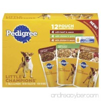 Pedigree Little Champions 12 Pouch Variety Pack Dog Food With 4 Beef in Sauce 4 Chicken in Gravy 4 Chicken in Sauce 3.97 lb Carton - B0029NWW5W
