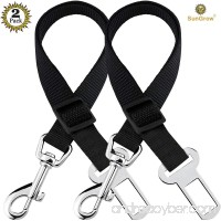 2 Adjustable Car Seat Belts for Dogs & Cats - Triple the survival rate in accidents - Prevent stress from travel in kennel - Allow breathing fresh air without pets jumping out - Support all cars - B01N1F2RFO