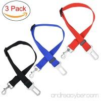Dod Seatbelt Adjustable Pet Car Safety Seat Belt Nylon Dogs Leads Vehicle Seatbelts 3 Pack - B01LY5OG79