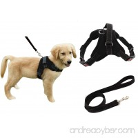 Heavy Duty Adjustable Pet Puppy Dog Safety Harness with Leash Lead Set Reflective No-Pull Breathable Padded Dog Leash Collar Chest Harness Vest with Handle for Small Medium Large Dogs Training Walking - B01LY7LVNL