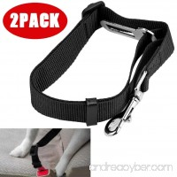 Tpingfe Vehicle Car Seat Belt Seatbelt Lead Clip Pet Cat Dog Safety Black 2PCS - B07FPZZ5S4