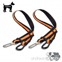 Uarter Dog Seat Belts Dog Restraint for Car Adjustable Dog Car Harness 2packs - B01IVG5IGK