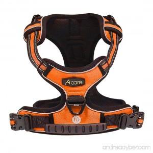 Acare Dog Harness Vest With Handle Adjustable Dog Vest Harness Medium For Dogs in Training Walking - No More Pulling Tugging or Choking - Orange - B071KFLJH7