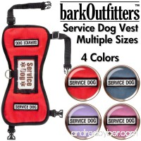 barkOutfitters Service Dog Vest Harness - Available in 4 Colors and 5 Sizes - B00XMIMI7U