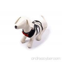 BINGPET Velvet Red Bowtie Gentleman Suit Boy Dog Tuxedo Harness Vest for Dogs with Handle - B00ZH3PUGE
