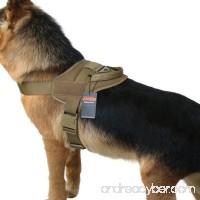 EXCELLENT ELITE SPANKER Tactical Dog Vest Training Military Patrol K9 Service Dog Harness Adjustable Nylon Dog Harness with Handle - B071F2H9MS