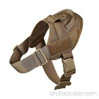 Feliscanis Tactical Dog Training Vest Nylon Adjustable Patrol Harness Service Dog Vest Velcro on Sides for ID Patch - B01EF8FQNI