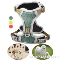 GAUTERF Dog Harness Vest Harnesses No-Pull Pet Harness Adjustable Outdoor Pet Vest Reflective Breathable Material Dogs Vest Harness Fit Small Medium Large Dog - B07DDFS1GY