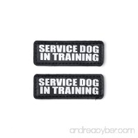 Hook and Loop Patches for Harness - Service Dog  Emotional Support  In Training  Service Dog In Training  and Therapy Dog Patches  by Industrial Puppy - B014C301WC