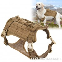 Openuye Tactical Service Dog Vest  Water-resistant Adjustable Quick Release Molle Military Training Patrol K9 Dog Harness with Carrying Handle - B07CMP4SKD