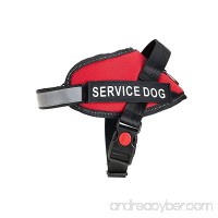 Service Dog Vest - Premium Quality Service Dog Harness - Improved Design - Fully Adjustable - Bright Red Safety Color with Reflective Strap - B0763RVSJG