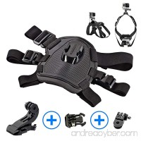Sports Action Camera Adjustable Dog Harness with Chest and Back Mounts For GoPro HERO 6  5  4 Session 4  3  2  1 | Dogs POV  Point Of View | Includes BONUS 90° Mount {-Crinco-} - B07DGJ24HR