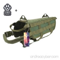 Ultrafun Tactical Dog Molle Vest Military Training Harness with Handle Outdoor Pet Supplies/Service Dog Tactical Badge Patch for Pet Harness Vest - B01IVNSJSW