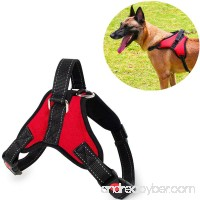 Vinca Mascot No Pull Dog Harness Adjustable Reflective Pet Harnesses With Handle Padded Chest Vest for Small Medium Large Dogs - B077J1X9HT
