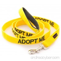 ADOPT ME Yellow Color Coded 4 Foot Padded Dog Leash (New Home Needed) Donate To Your Local Charity - B00BXLFMKI