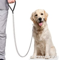 CtopoGo Premium Chain Heavy Duty Dog Leash - Soft Padded Leather Handle Lead - Perfect Basic Leashes Specifically Designed for Over 30KG Large Size Pets Walking - B0791TMHTN