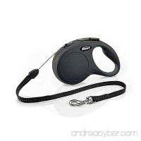 Flexi CL10C8.250.S New Classic Cord Retractable Leash  Black  Small/26' - B0748N7D65