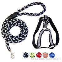 RUCKER Dog Harness Dog leash Dog rope Adjustable and Durable Reflective The Harness is Suitable For Large Medium and Small size of Dogs and as well as for Cats Perfect Walking Training and Play - B07C1G5G75