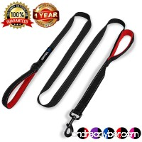 Tifereth Heavy Duty Dog Leash Reflective Nylon dog leash 2 Handles Padded Traffic Handle For Extra Control 6 ft Long Perfect For Medium to Large Dogs - B078TJMRTS