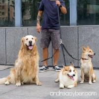MEWTOGO Adjustable Pet Dog Leash Coupler-no Tangle Triple Nylon Puppy Leash for Walking and Training - B071YDYR5C