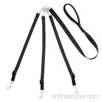 Pet Supplies for Dog Leashes - Mopaclle Premium Three Way Dog Leash With Adjustable Detachable Dog Coupler for One Two Three Samll/Medium Dog (Black) - B01DU5LJP6
