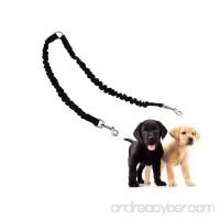 VEIREN Dual Sided Dog Walking Leash Coupler Tangle Free Bungee 360°Swivel Training Leash Elastic Comfortable Shock Absorbing Two Dog Leads Splitter - B0798K5VWP