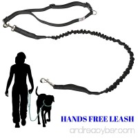 Hands Free Dog Leash Adjustable Waist Belt   For Small and Large Dogs (100lbs) - B06XS2R33R