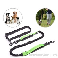 PERSUPER - Hands Free Dog Leash 48'' Durable Dual-Handle Bungee Leash with Double Rubber Adjustable Waist Belt Lightweight Reflective Stitching Running Dog Leash for up to 150 lbs Large Dogs - B07228L214