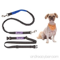 Tippy Toes Pet Boutique Hands Free Dog Running Leash With Long Bungee - Fits Waists 28 to 48 for Runners Hiking and Jogging Includes Reflective Stitching for Night Time Visibility Long Dog Leash - B01CTBK2FU