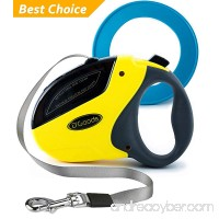 D'Goods Retractable Dog Leash by Lifetime Replacement Guarantee - Long 16 ft Walking Leash Yellow for Small Medium Large Dogs up to 110lbs - Heavy Duty Nylon No Tangle – FREE FRISBEE - B01LXRWU4Y