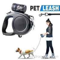 DiDaDi Automatic Retractable Dog Leash Extendable Traction Rope Pet Lead with Detachable Waste Bag Dispenser & Break Button with Lock for Puppy Pet Dog Cat Training Walking - B0792513X4