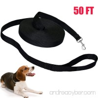 50-Feet Dog Training Leash Lead Aopet Extra Long Pet Agility Control Rope Durable Harness Fit for Large Medium Small Dogs (50ft Long 1in wide Black) - B076MW7BMD