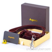 AGEELS 48HOUR SALE! Leather Dog Leash Brown 6 foot x 5/8 Inch - Walking Training Leads Best for Small Medium Large Dogs - B076GXWT95