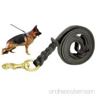 Beirui Leather Dog Leash - Training & Walking Braided Dog Leash - 3.6/4/5/6.5/8.5 Foot - Latigo Leather - B01ABP606G