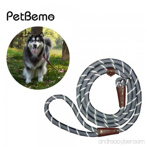 Reflective Slip Rope Leash- Petbemo Retractable Dog Leash 6 FT Heavy Duty Training Leash for Large and Medium Pet Mountain Climbing Dog Rope for Safety Night Walking - B077XR15LT