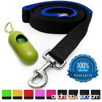 [Strong] Dog Leash with Bonus FREE Waste Bag Dispenser – Thick Padded Dual Handles Includes Poop Bags & 100% Nylon (6ft. Long) – Comfortable Grip – Ideal for Large Medium and Small Dogs - B071JTMQ65