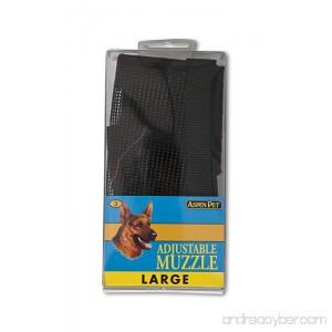 ASPEN PET PRODUCTS 27252 Large Adjustable Dog Muzzle Black - B000FJYR28