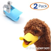 Dog Mouth Cover Duck Mouth Shape Anti-bite Muzzle(Pack of 2) - B078GR3RQ5