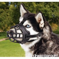 Dog Muzzle Basket Silicone Muzzle Controls Barking Biting and Chewing Available in 6 Sizes - B078HBDPXC