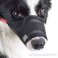 FOMATE Dog muzzle guard Anti biting quick easy fit for Long Snout Breeds. Gentle mesh mask mouth cover muzzle for training and walking. - B073J4X5RD