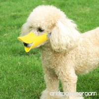 Pawliss Dog Mouth Cover Duck Mouth Shape Anti-bite Muzzle - B017EP7BXW