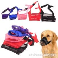 WEIYE Dog Muzzle Adjustable Pet Dog Mouth Cover Muzzles for Barking Biting Chewing Dog Mask for Small Large Medium Dogs - 1pcs Nylon Dog Muzzle Mesh Mask - B077898TPX