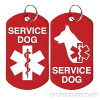 2 Service Dog ID Tags - Includes up to 4 Lines of Customized Text on Back. - B01162SOD0 id=ASIN